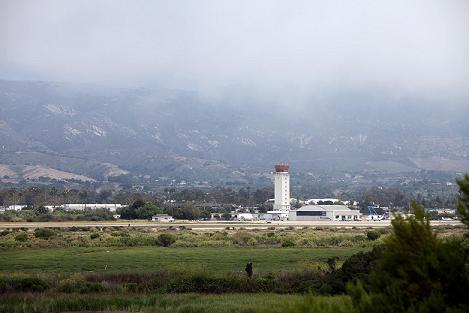 Wetlands surrounding the Santa Barbara airport